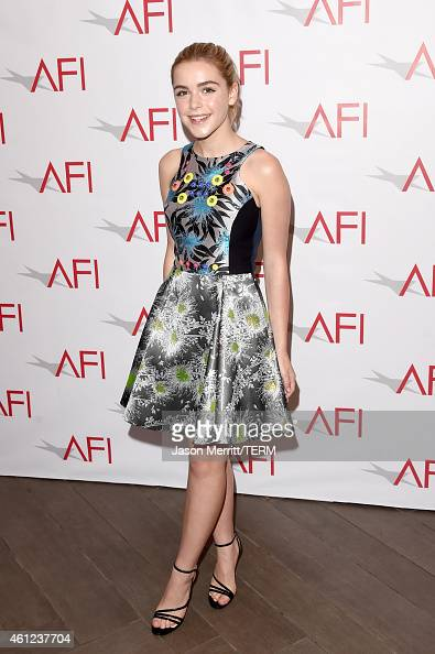Actress Kiernan Shipka attends the 15th Annual AFI Awards at Four Seasons Hotel Los Angeles at Beverly Hills on January 9 2015 in Beverly Hills...