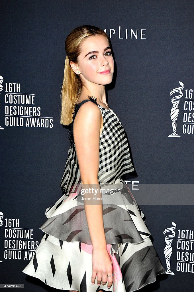 Actress Kiernan Shipka attends the 16th Costume Designers Guild Awards with presenting sponsor Lacoste at The Beverly Hilton Hotel on February 22, 2014 in Beverly Hills, California.