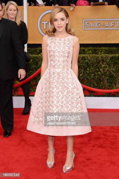 Actress Kiernan Shipka attends the 19th Annual Screen Actors Guild Awards at The Shrine Auditorium on January 27 2013 in Los Angeles California...
