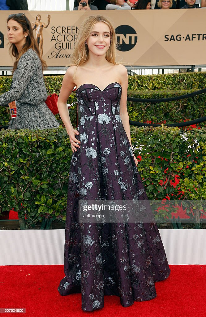 Actress Kiernan Shipka attends the 22nd Annual Screen Actors Guild Awards at The Shrine Auditorium on January 30 2016 in Los Angeles California