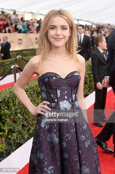 Actress Kiernan Shipka attends The 22nd Annual Screen Actors Guild Awards at The Shrine Auditorium on January 30 2016 in Los Angeles California...