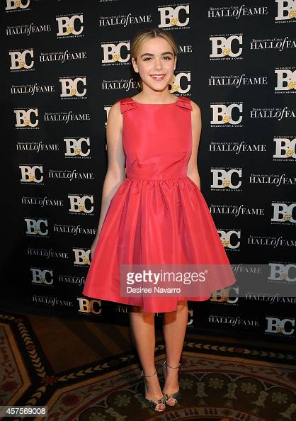 Actress Kiernan Shipka attends the 24th Annual Broadcasting Cable Hall Of Fame Awards at The Waldorf Astoria on October 20 2014 in New York City