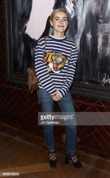 Actress Kiernan Shipka attends the after party for the screening of 'The Blackcoat's Daughter' hosted by A24 and DirecTV with The Cinema Society at...