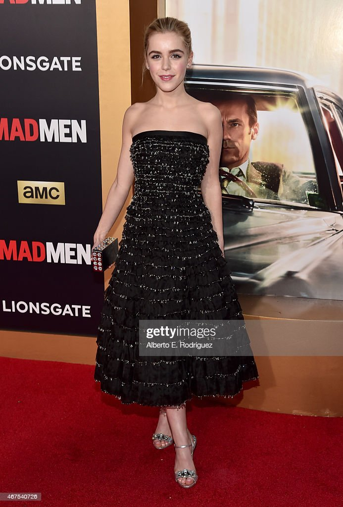 Actress Kiernan Shipka attends the AMC celebration of the final 7 episodes of 'Mad Men' with the Black Red Ball at the Dorothy Chandler Pavilion on...