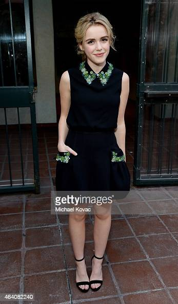 Actress Kiernan Shipka attends the AMC Networks and IFC Films Spirit Awards After Party on February 21 2015 in Santa Monica California