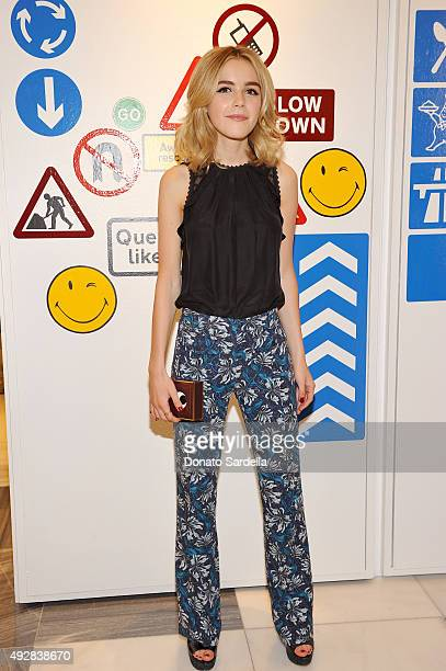 Actress Kiernan Shipka attends The Anya Hindmarch Service Station Collection hosted by Barneys New York along with Jena Malone and Karla Welch at...