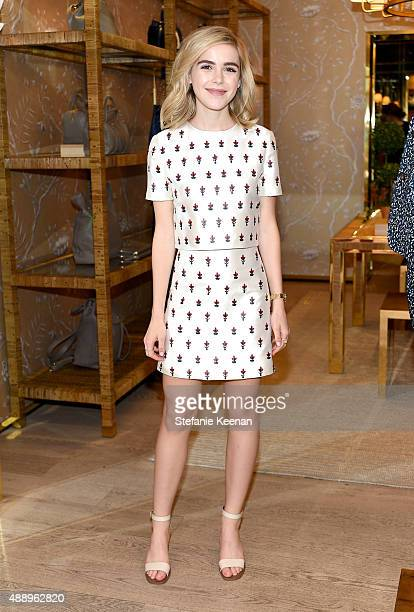 Actress Kiernan Shipka attends the Glamour Women To Watch Lunch hosted by Cindi Leive at the Tory Burch Boutique Beverly Hills on September 18 2015...