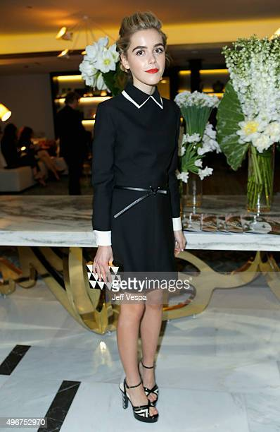 Actress Kiernan Shipka attends The Hollywood Reporter's Beauty Dinner at The London West Hollywood on November 11 2015 in West Hollywood California