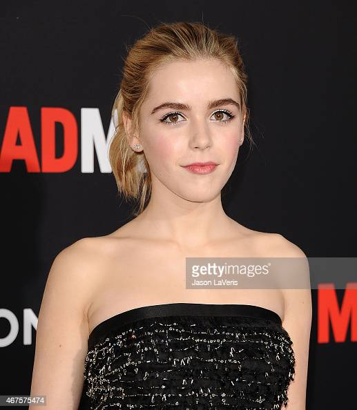 Actress Kiernan Shipka attends the 'Mad Men' Black Red Ball at Dorothy Chandler Pavilion on March 25 2015 in Los Angeles California
