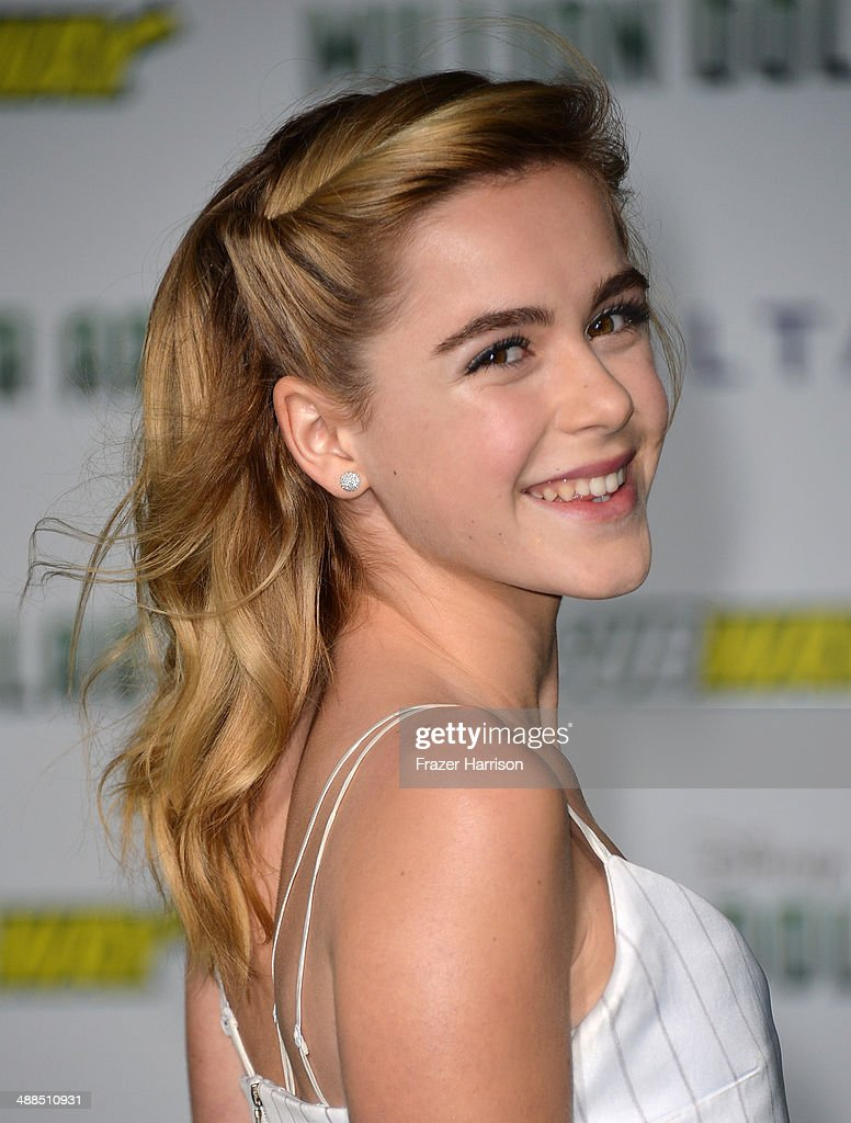 Actress <a gi-track='captionPersonalityLinkClicked' href=/galleries/search?phrase=Kiernan+Shipka&family=editorial&specificpeople=5535048 ng-click='$event.stopPropagation()'>Kiernan Shipka</a> attends the premiere of Disney's 'Million Dollar Arm' at the El Capitan Theatre on May 6, 2014 in Hollywood, California.