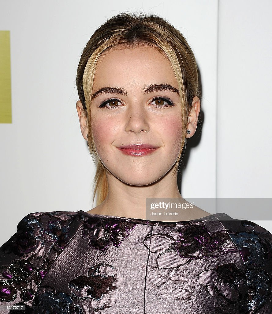 Actress <a gi-track='captionPersonalityLinkClicked' href=/galleries/search?phrase=Kiernan+Shipka&family=editorial&specificpeople=5535048 ng-click='$event.stopPropagation()'>Kiernan Shipka</a> attends the season 7 premiere of 'Mad Men' at ArcLight Cinemas on April 2, 2014 in Hollywood, California.
