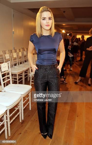 Actress Kiernan Shipka attends the Zac Posen fashion show during MercedesBenz Fashion Week Spring 2015 on September 8 2014 in New York City