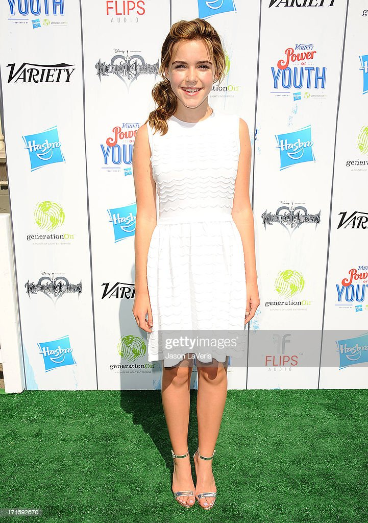 Actress Kiernan Shipka attends Variety's 7th annual Power of Youth event at Universal Studios Hollywood on July 27 2013 in Universal City California