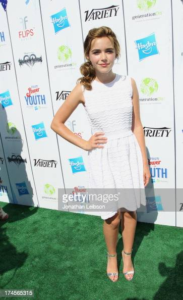 Actress Kiernan Shipka attends Variety's Power of Youth presented by Hasbro Inc and generationOn at Universal Studios Backlot on July 27 2013 in...