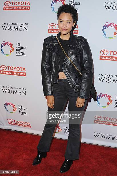 Actress Kiersey Clemons arrives at An Evening With Women Benefitting The Los Angeles LGBT Center at Hollywood Palladium on May 16 2015 in Los Angeles...