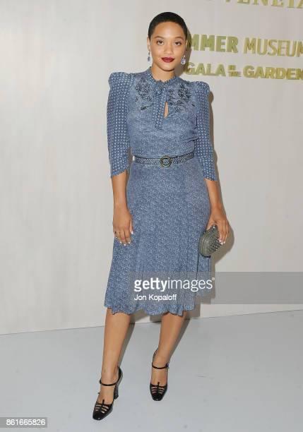Actress Kiersey Clemons arrives at Bottega Veneta Hosts Hammer Museum Gala In The Garden on October 14 2017 in Westwood California