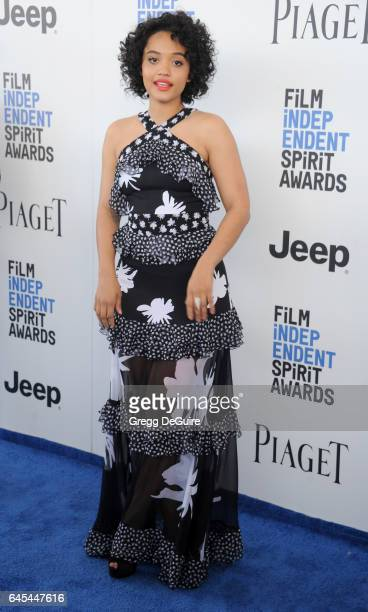 Actress Kiersey Clemons arrives at the 2017 Film Independent Spirit Awards on February 25 2017 in Santa Monica California