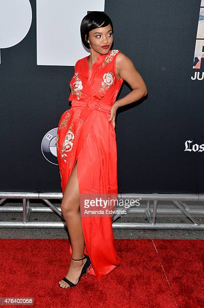 Actress Kiersey Clemons attends the Los Angeles premiere of 'Dope' in partnership with the Los Angeles Film Festival at Regal Cinemas LA Live on June...
