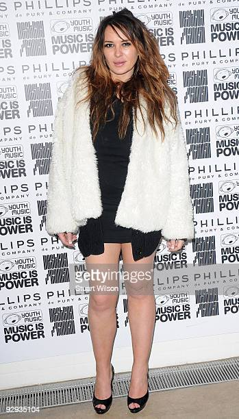 Actress Kierston Wareing attends the Destroy/Rankin private view at Phillips De Pury and Company on November 9 2009 in London England