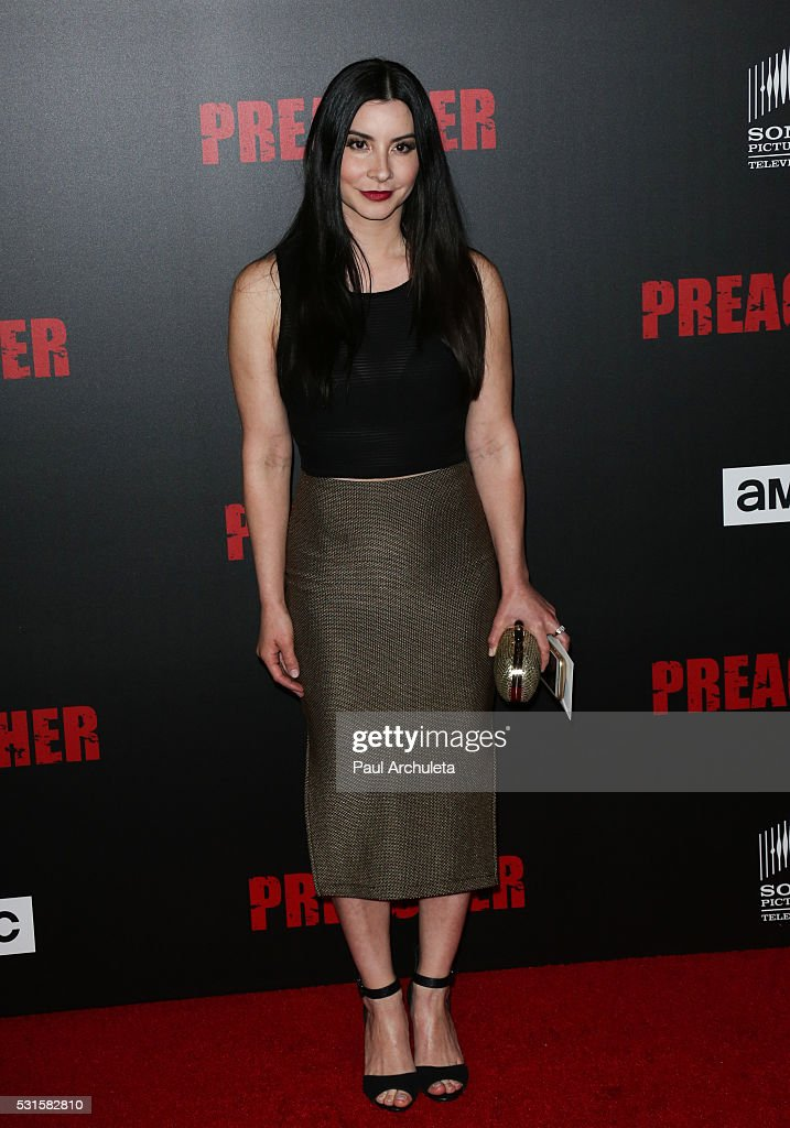 Actress Kiira Arai attends the premiere of AMC's 'Preacher' at Regal LA Live Stadium 14 on May 14, 2016 in Los Angeles, California.