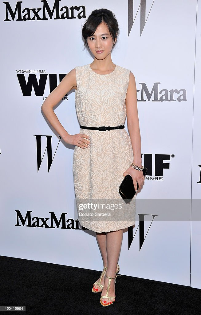 Actress Kiki Sugino attends MaxMara And W Magazine Cocktail Party To Honor The Women In Film MaxMara Face Of The Future, Rose Byrne at Chateau Marmont on June 10, 2014 in Los Angeles, California.