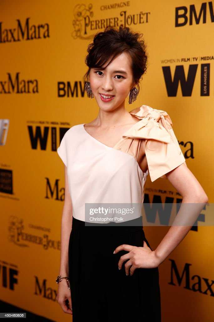 Actress <a gi-track='captionPersonalityLinkClicked' href=/galleries/search?phrase=Kiki+Sugino&family=editorial&specificpeople=9486394 ng-click='$event.stopPropagation()'>Kiki Sugino</a> attends Women In Film 2014 Crystal + Lucy Awards presented by MaxMara, BMW, Perrier-Jouet and South Coast Plaza held at the Hyatt Regency Century Plaza on June 11, 2014 in Los Angeles, California.