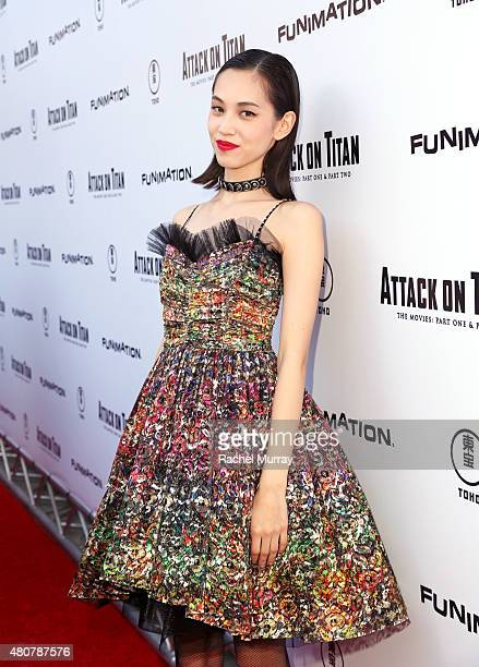 Actress Kiko Mizuhara attends the 'ATTACK ON TITAN' World Premiere on July 14 2015 in Hollywood California