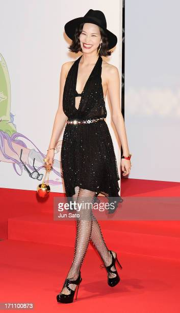 Actress Kiko Mizuhara attends the MTV Video Music Awards Japan 2013 at Makuhari Messe on June 22 2013 in Chiba Japan