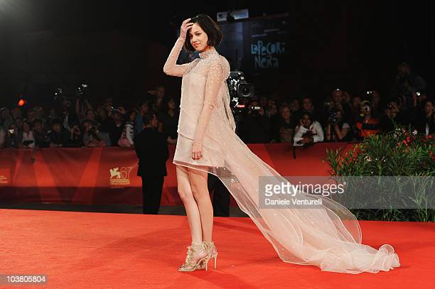 Actress Kiko Mizuhara attends the 'Norwegian Wood' premiere at the Palazzo del Cinema during the 67th International Venice Film Festival on September...