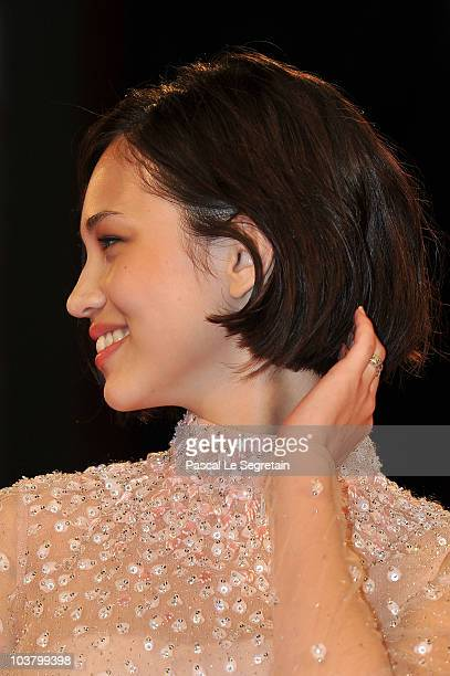 Actress Kiko Mizuhara attends the 'Norwegian Wood' premiere during the 67th Venice Film Festival at the Sala Grande Palazzo Del Cinema on September 2...