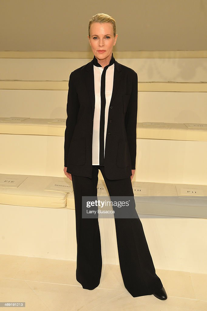 Actress <a gi-track='captionPersonalityLinkClicked' href=/galleries/search?phrase=Kim+Basinger&family=editorial&specificpeople=202204 ng-click='$event.stopPropagation()'>Kim Basinger</a> attends the Ralph Lauren fashion show during Mercedes-Benz Fashion Week Fall 2014 at St. John Center Studios on February 13, 2014 in New York City.