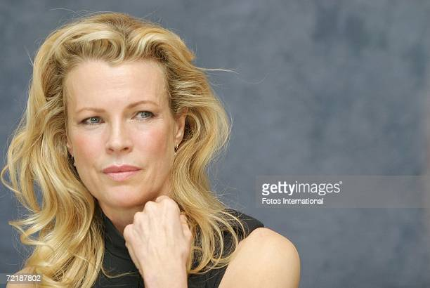 Actress Kim Basinger talks at the Beverly Hills Hotel on September 25 2006 in Los Angeles California