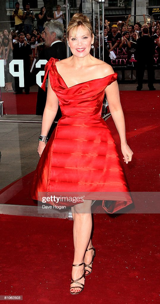 Actress Kim Catrall arrives at the world premiere of 'Sex And The City' at the Odeon Leicester Square on May 12 2008 in London England