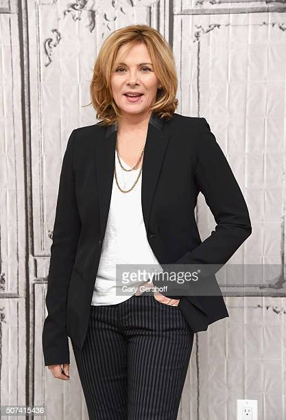 Actress Kim Cattrall attends AOL Build Presents 'Sensitive Skin' at AOL Studios In New York on January 29 2016 in New York City