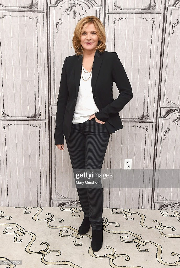 Actress Kim Cattrall attends AOL Build Presents 'Sensitive Skin' at AOL Studios In New York on January 29, 2016 in New York City.