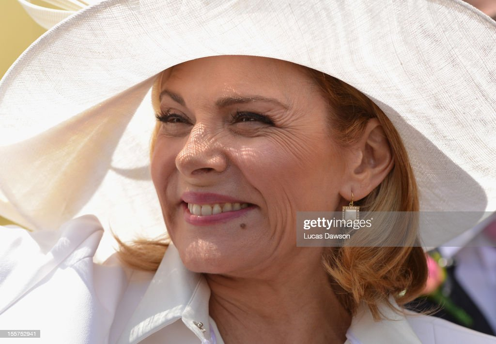 Actress Kim Cattrall attends Crown Oaks Day at Flemington Racecourse on November 8, 2012 in Melbourne, Australia.