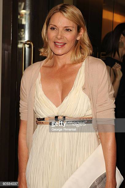 Actress Kim Cattrall attends the 2009 George Christie Party held at Avenue Lounge Four Seasons Hotel during 2009 Toronto International Film Festival...