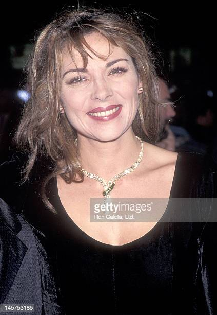 Actress Kim Cattrall attends the 'Ace Ventura Pet Detective' Westwood Premiere on November 8 1995 at the Mann Village Theatre in Westwood California