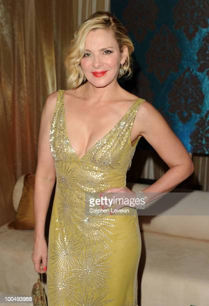 Actress Kim Cattrall attends the after party following the premiere of 'Sex and the City 2' at Lincoln Center for the Performing Arts on May 24 2010...