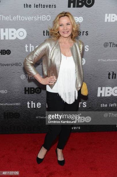 Actress Kim Cattrall attends 'The Leftovers' premiere at NYU Skirball Center on June 23 2014 in New York City