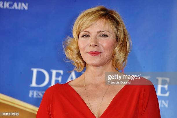Actress Kim Cattrall attends the photocall for the film 'Meet Monica Velour' during the 36th Deauville American Film Festival on September 11 2010 in...