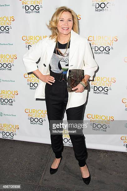 Actress Kim Cattrall attends the 'The Curious Incident Of The Dog In The NightTime' Broadway Opening Night at The Ethel Barrymore Theatre on October...