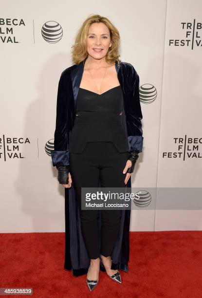 Actress Kim Cattrall attends Tribeca Talks After The Movie 'NOW In the Wings On A World Stage' during the 2014 Tribeca Film Festival at BMCC Tribeca...