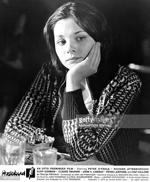 Actress Kim Cattrall on set of the United Artist movie 'Rosebud' in 1975