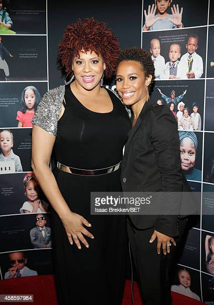 Actress Kim Coles and photographer Eunique Jones attend the 2014 Soul Train Music Awards at the Orleans Arena on November 7 2014 in Las Vegas Nevada