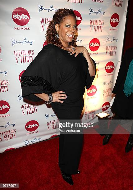 Actress Kim Coles arrives at Niecy Nash's '40 Fabulous N� Flirty' Birthday Party at The Kress on February 27 2010 in Hollywood California