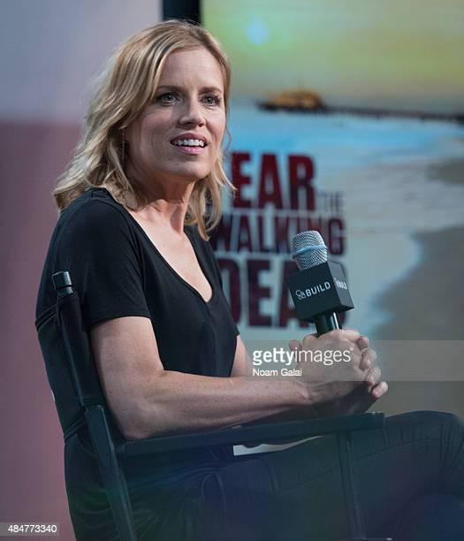 Actress Kim Dickens attends AOL's BUILD Speaker Series 'Fear of The Walking Dead' at AOL Studios In New York on August 21 2015 in New York City