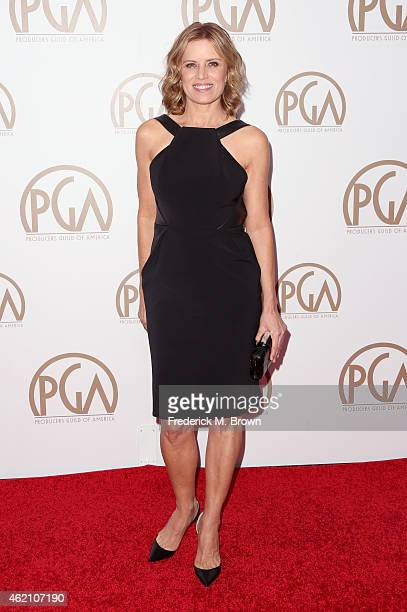 Actress Kim Dickens attends the 26th Annual Producers Guild Of America Awards at the Hyatt Regency Century Plaza on January 24 2015 in Los Angeles...