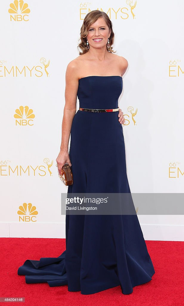 Actress <a gi-track='captionPersonalityLinkClicked' href=/galleries/search?phrase=Kim+Dickens&family=editorial&specificpeople=589297 ng-click='$event.stopPropagation()'>Kim Dickens</a> attends the 66th Annual Primetime Emmy Awards at the Nokia Theatre L.A. Live on August 25, 2014 in Los Angeles, California.