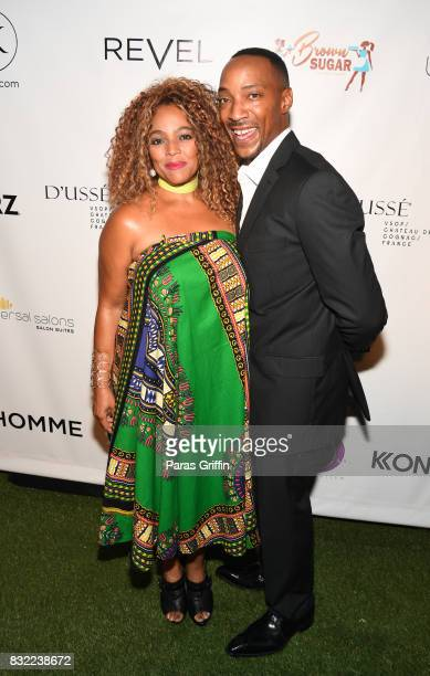Actress Kim Fields with husband Christopher Morgan at 'Survivor's Remorse' Season 4 Celebration and RonReaco Lee's Kontrol Homme Cover Release Party...